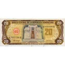 Rép. Dominicaine - Pick 120b1 - 20 pesos oro - 1980 - Etat : TB+