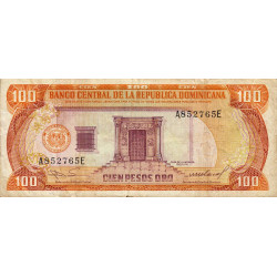 Rép. Dominicaine - Pick 122b2 - 100 pesos oro - 1985 - Etat : TB