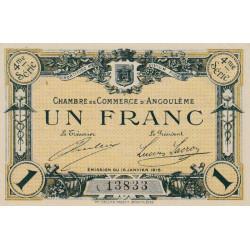 Angoulême - Pirot 9-21 - 1 franc - 4ème série - 15/01/1915 - Etat : SPL