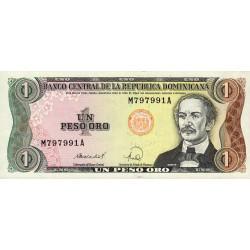 Rép. Dominicaine - Pick 126c - 1 peso oro - 1988 - Etat : NEUF