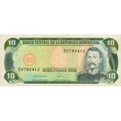 Rép. Dominicaine - Pick 132 - 10 pesos oro - 1990 - Etat : SPL