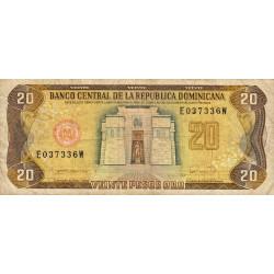 Rép. Dominicaine - Pick 133 - 20 pesos oro - 1990 - Etat : TB-