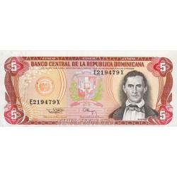 Rép. Dominicaine - Pick 146 - 5 pesos oro - 1994 - Etat : SPL