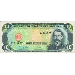 Rép. Dominicaine - Pick 153_3 - 10 pesos oro - 1998 - Etat : TTB+