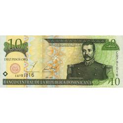 Rép. Dominicaine - Pick 168a - 10 pesos oro - 2001 - Etat : NEUF