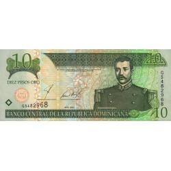 Rép. Dominicaine - Pick 168b - 10 pesos oro - 2002 - Etat : SPL