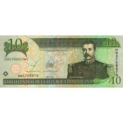 Rép. Dominicaine - Pick 168c - 10 pesos oro - 2003 - Etat : NEUF