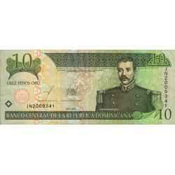 Rép. Dominicaine - Pick 168c - 10 pesos oro - 2003 - Etat : TTB