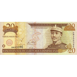 Rép. Dominicaine - Pick 169a - 20 pesos oro - 2001 - Etat : NEUF