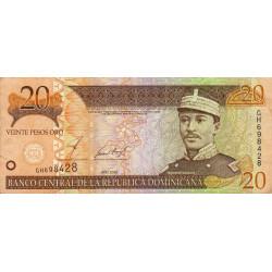 Rép. Dominicaine - Pick 169b - 20 pesos oro - 2002 - Etat : TTB