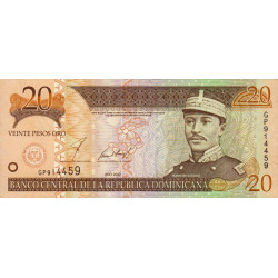 Rép. Dominicaine - Pick 169b - 20 pesos oro - 2002 - Etat : NEUF