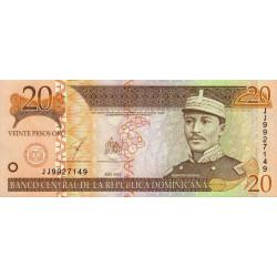 Rép. Dominicaine - Pick 169c - 20 pesos oro - 2003 - Etat : NEUF