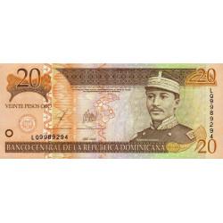 Rép. Dominicaine - Pick 169c - 20 pesos oro - 2003 - Etat : SUP