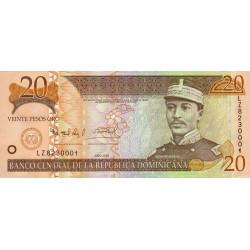Rép. Dominicaine - Pick 169d - 20 pesos oro - 2004 - Etat : NEUF