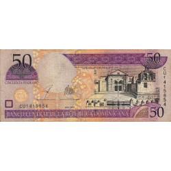Rép. Dominicaine - Pick 170c - 50 pesos oro - 2003 - Etat : TB