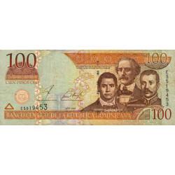 Rép. Dominicaine - Pick 171b - 100 pesos oro - 2002 - Etat : TB
