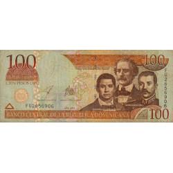 Rép. Dominicaine - Pick 171c - 100 pesos oro - 2003 - Etat : TB-