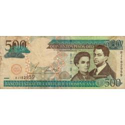 Rép. Dominicaine - Pick 172a - 500 pesos oro - 2002 - Etat : TB-