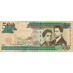 Rép. Dominicaine - Pick 172b - 500 pesos oro - 2003 - Etat : TB+