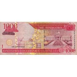 Rép. Dominicaine - Pick 173b - 1'000 pesos oro - 2003 - Etat : TB+