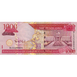 Rép. Dominicaine - Pick 173c - 1'000 pesos oro - 2004 - Etat : TTB