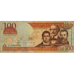 Rép. Dominicaine - Pick 175 - 100 pesos oro - 2002 - Commémoratif - Etat : TB-