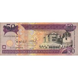 Rép. Dominicaine - Pick 176a - 50 pesos oro - 2006 - Etat : TTB-