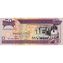 Rép. Dominicaine - Pick 176A - 50 pesos oro - 2008 - Etat : NEUF