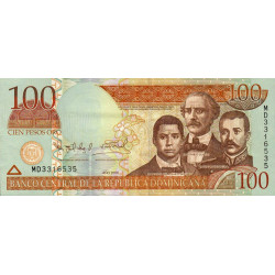 Rép. Dominicaine - Pick 177a - 100 pesos oro - 2006 - Etat : SUP
