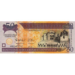 Rép. Dominicaine - Pick 183b - 50 pesos dominicanos - 2012 - Etat : NEUF