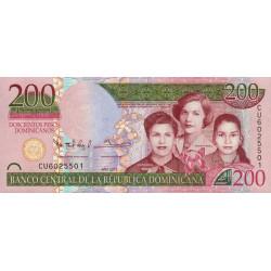 Rép. Dominicaine - Pick 185 - 200 pesos dominicanos - 2013 - Etat : NEUF