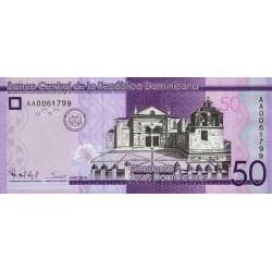 Rép. Dominicaine - Pick 189a - 50 pesos dominicanos - 2014 - Etat : NEUF