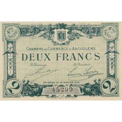 Angoulême - Pirot 9-22 - 2 francs - 4ème série - 15/01/1915 - Etat : SPL