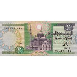 Egypte - Pick 52b_1 - 20 pounds - 01/03/1987 - Etat : pr.NEUF