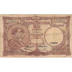 Belgique - Pick 111_5 - 20 francs - 04/04/1947 - Etat : TB-