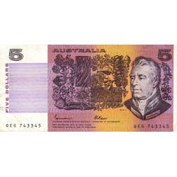 Australie - Pick 44e - 5 dollars - 1985 - Etat : TB