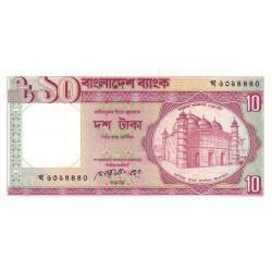 Bangladesh - Pick 26a - 10 taka - 1990 - Etat : SPL