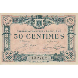 Angoulême - Pirot 9-23 - 50 centimes - 1915 - Etat : SUP