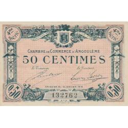 Angoulême - Pirot 9-23 - 50 centimes - 4ème série - 15/01/1915 - Etat : SUP