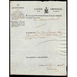 Seine - Paris - 1er empire - 1806 - Quittance Lycée Impérial - 250 francs - Etat : SUP