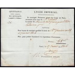 Seine - Paris - 1er empire - 1806 - Quittance Lycée Impérial - 68 francs - Etat : SUP