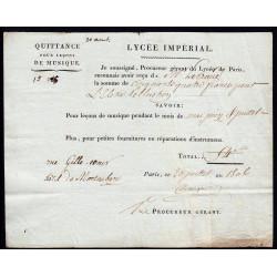 Seine - Paris - 1er empire - 1806 - Quittance Lycée Impérial - 54 francs - Etat : SUP