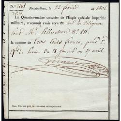 Seine et Marne - Fontainebleau - 1er empire - 1806 - Ecole Spéciale Impériale Militaire - 300 francs - Etat : SUP