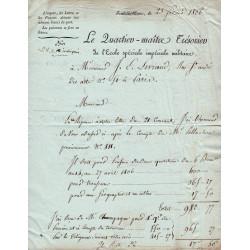 Seine et Marne - Fontainebleau - 1er empire - 1806 - Ecole Spéciale Impériale Militaire - 300 francs - Etat : TTB