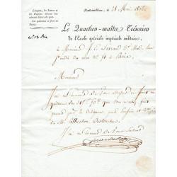 Seine et Marne - Fontainebleau - 1er empire - 1806 - Ecole Spéciale Impériale Militaire - 317 francs - Etat : TTB