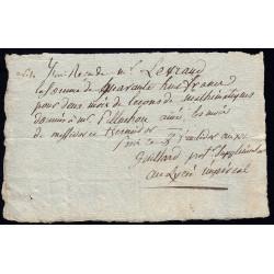 Seine - Paris - 1er empire - 1805 - Reçu Lycée Impérial - 48 francs - Etat : SUP