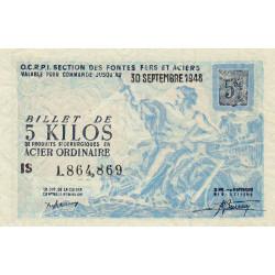 5 kg acier ordinaire - 30-09-1948 - Non endossé - Etat : SPL