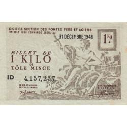 1 kg tôles minces - 31-12-1948 - Non endossé - Etat : SPL