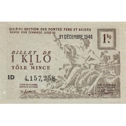 1 kg tôles minces - 31-12-1948 - Non endossé - Etat : NEUF
