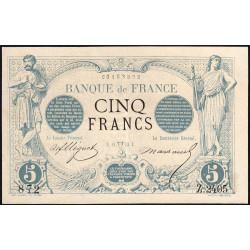 F 01-17 - 24/04/1873 - 5 francs - Noir - Etat : SUP à SUP+